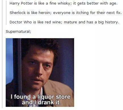 Lol very true. I was not aware that DW was mature... <<< I agree who would think Dean Winchester is mature