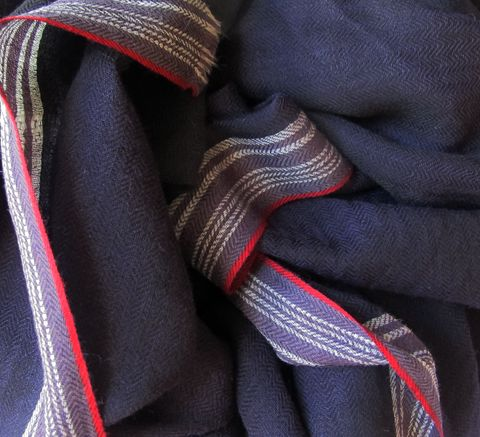 A classic scarf by Epice, the chevron design refers to the weaving tech... click for more information