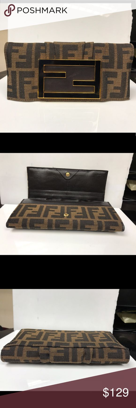 Fendi women's wristlet Brand new women's wristlet. Have small defect on logo as u can see some scratches. Except that every thing is fine. Fendi Bags Clutches & Wristlets