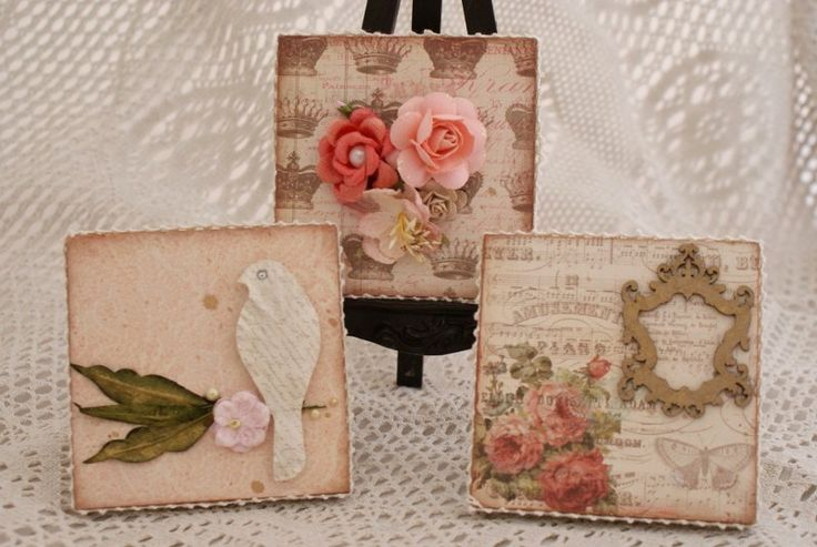 cute set of 3 canvas's