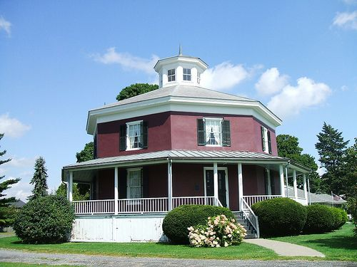 17 best images about octagon house plans vintage custom for Octagonal house designs