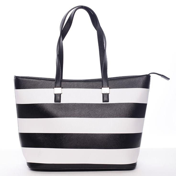 Trendová dámská kabelka Gonzalo, černé barvy. Vyrobená ze syntetické kůže.
