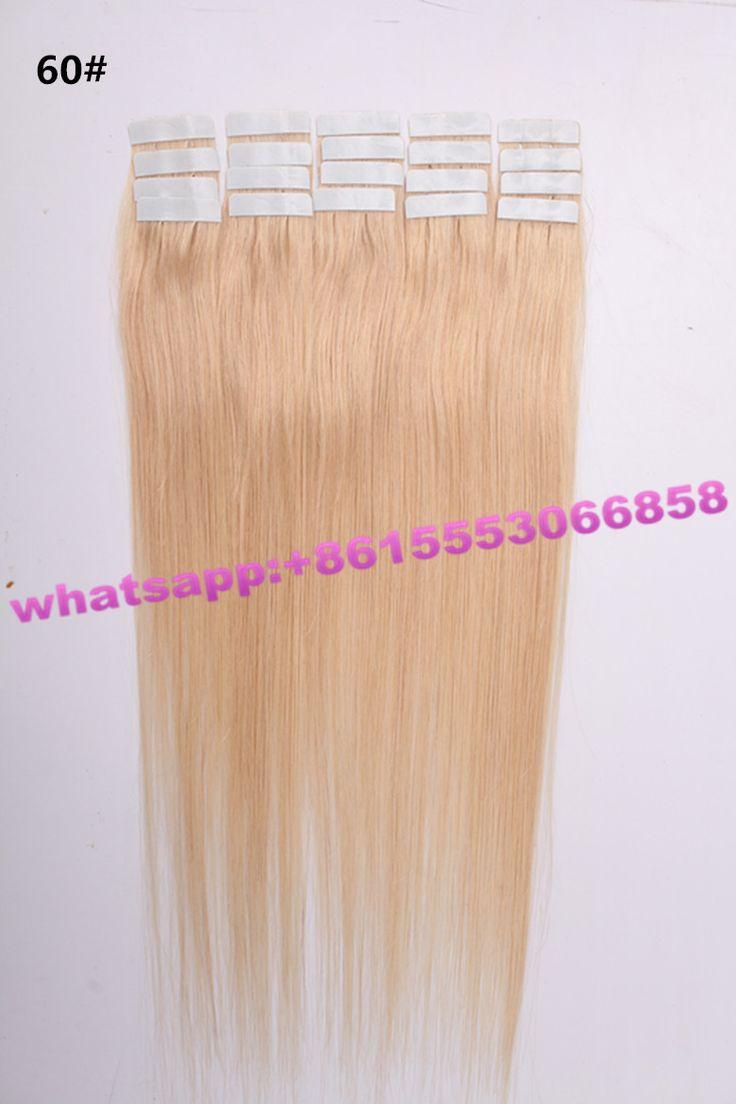 blonde color 60# tape hair, 2.5g/pc, 100g(50pcs)/pack, 100% human hair