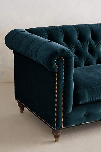 Velvet Lyre Chesterfield Sofa, Hickory - anthropologie.com www.lab333.com www.facebook.com/pages/LAB-STYLE/585086788169863 http://www.lab333style.com https://instagram.com/lab_333 http://lablikes.tumblr.com www.pinterest.com/labstyle