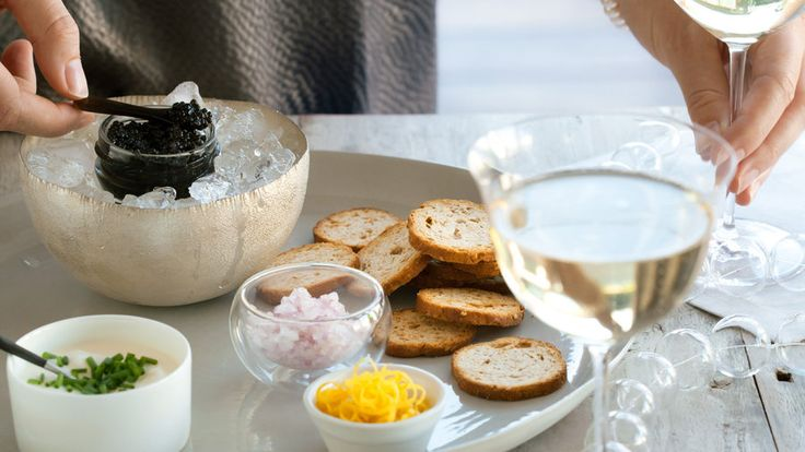 California Caviar Tasting | Holiday gatherings are special by definition. So pull out all the stops and let guests know they're in for a treat by starting the party with these extravagant appetizers