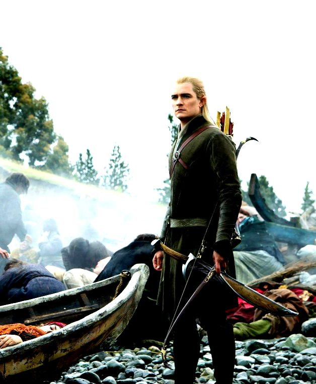 Orlando Bloom as Legolas in The Hobbit: The Battle of the Five Armies, 2014.