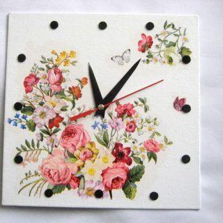 Model #ceas de #perete #narcise, #trandafiri, #albastrele, #flori de #cireş /  #Wall #clock #design #daffodils / #Narcissus, #roses / #Rosaceae, #blue #flowers / #Centaurea #cyanus & #cherry #blossoms / #벽시계 #디자인 #수선화, #장미, #푸른 #꽃 & #벚꽃 https://handmade.luxdesign28.ro/produs/model-ceas-de-perete-narcise-trandafiri-albastrele-flori-de-cires-27596/