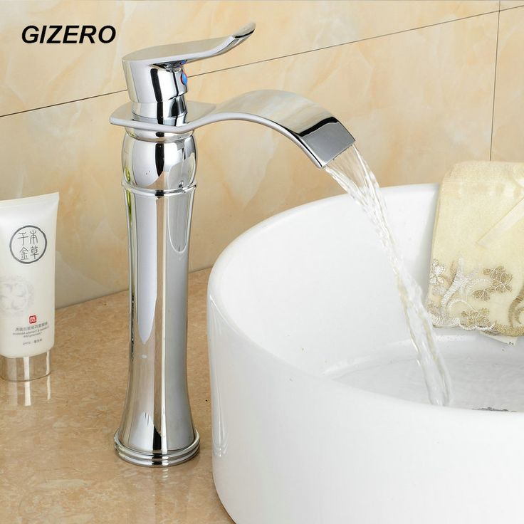 Contemporary Chrome Faucet Bathroom Waterfall Taps Fashion Sink Vanity  Faucet Hot And Cold Torneira Para Banheiro