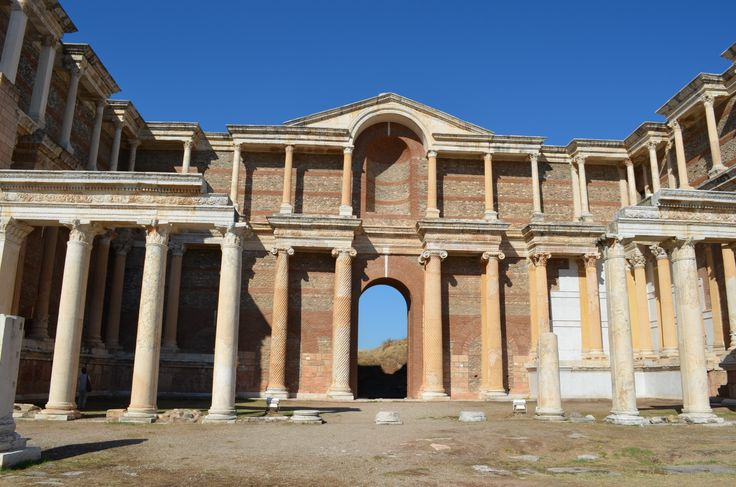 Thermes of Sardes in Lydia rebuilt by American Archeological school