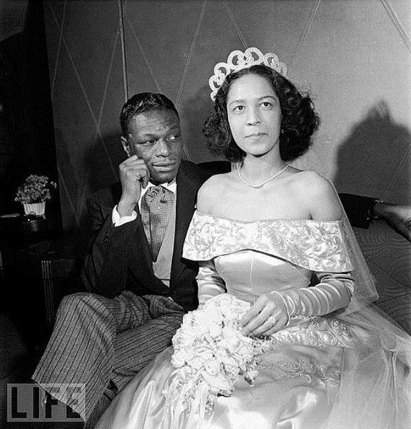 Throwback Thursday: Nat King Cole and Maria Cole + Blue Wedding Dresses - Munaluchi Bridal Magazine
