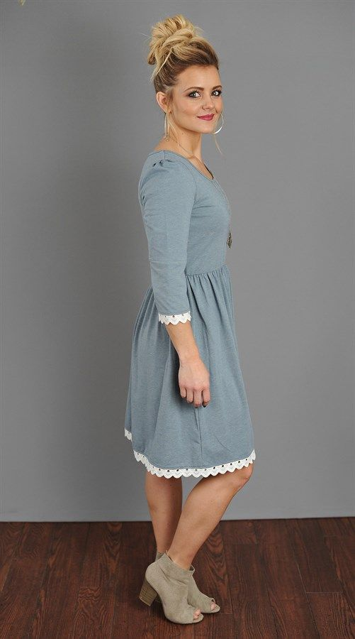 Our mid dress is a 3/4 sleeve style Trimmed with beautiful white lace  S-XXL