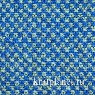 Двухцветный Лен спицами - Двухцветный Лен спицами выполнен в двух цветах в технике ленивого жаккарда: два ряда вяжут одним цветом, затем два ряда другим. Получается узор в мелкую клеточку. Полотно плотное, слабо растягивается как вдоль, так и поперек. Отлично подойдет для вязания варежек, носков, планок и во всех тех случаях, когда нужна особая прочность и плотность.