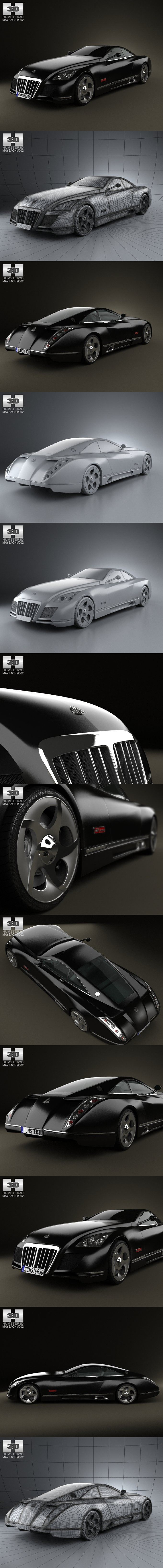Maybach Exelero 2005. 3D Vehicles