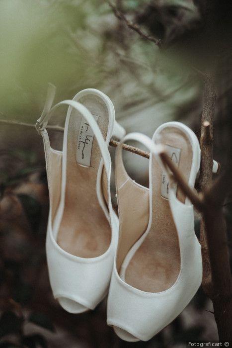 Scarpe da sposa bianche modello chanel