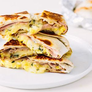 Ham, Egg, and Cheese Breakfast Quesadilla Recipe | Yummly