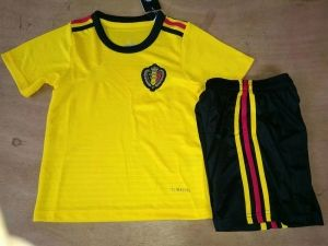 74e59c08322 2018 World Cup Youth Kit Belgium Away Replica Yellow Suit [CFC14 ...