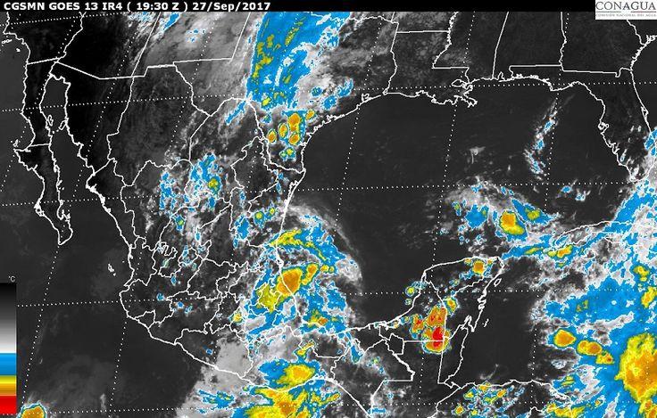Además, hoy se prevén tormentas intensas en zonas de Coahuila, Puebla, Veracruz, Oaxaca y Chiapas; tormentas muy fuertes en regiones de Nuevo León, Estado de México, Guerrero, Tamaulipas, Tabasco, Campeche, ...
