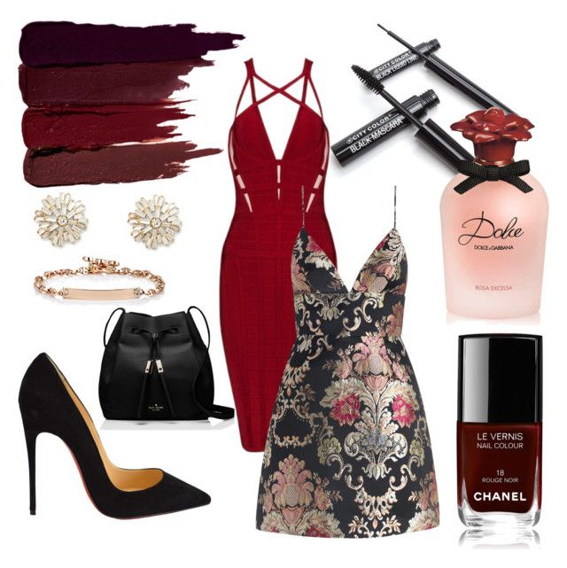 """""""Night out with Arno❤️"""" by megmegmarx on Polyvore featuring Christian Louboutin, Kate Spade, Hoorsenbuhs, Posh Girl, Serge Lutens, Sole Society, Dolce&Gabbana and Chanel"""