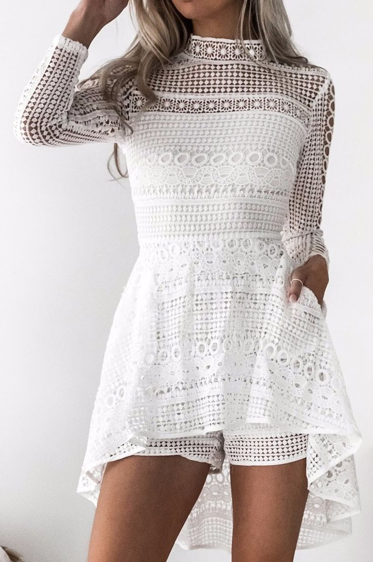 Two Sisters the Label - Daria Playsuit - White