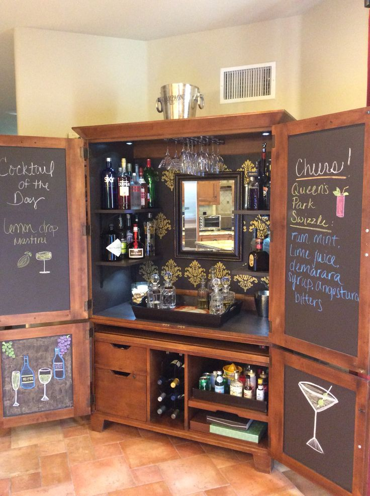 25 Best Ideas About Armoire Bar On Pinterest Armoires