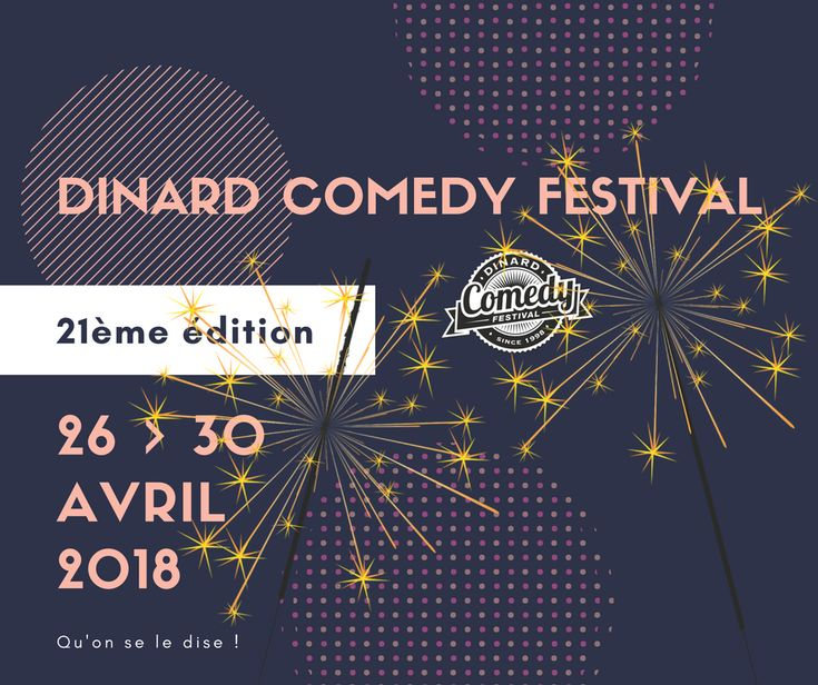 DINARD_Dinard Comedy Festival du jeudi 26 avril 2018 au lundi 30 avril 2018_Manifestation gratuite