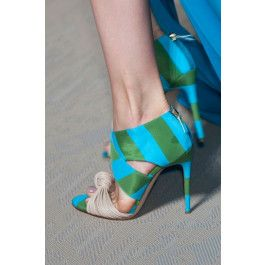 How about this shoe?  Share to get a coupon for all on FSJ Nude and Green Stripes Accrossed Strappy Open Toe Stiletto Heel Sandals