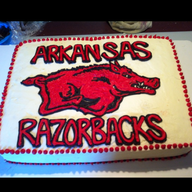 Arkansas Razorbacks Birthday Cakes