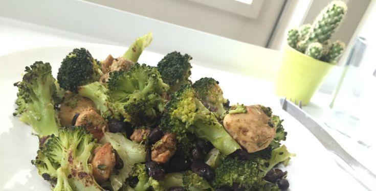 zwarte bonen kip broccoli