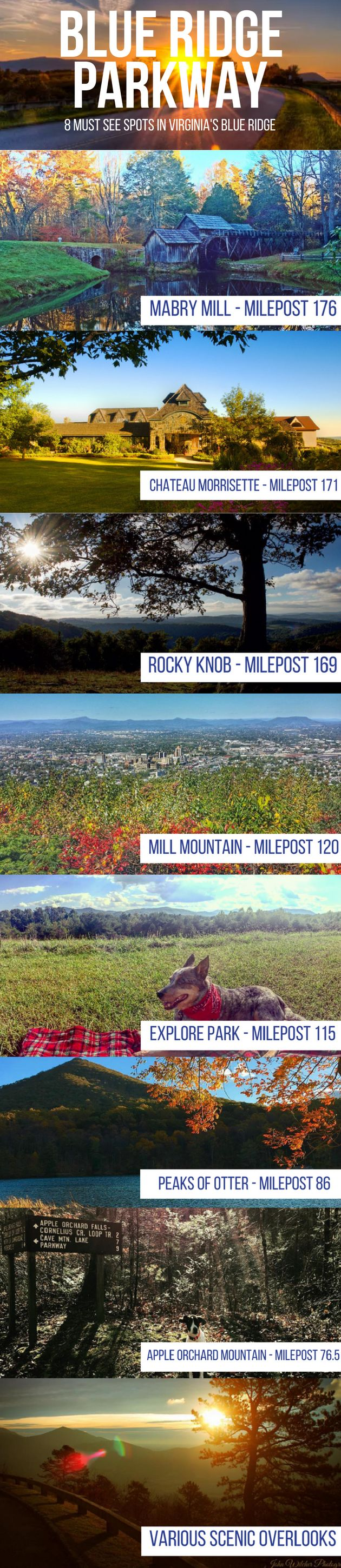 8 Must See Spots on the Blue Ridge Parkway in Virginia's Blue Ridge Mountains