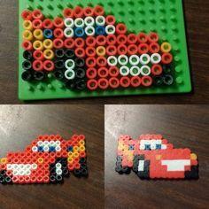 On instagram by lvl27haunter #gameboy #microhobbit (o) http://ift.tt/1PPQBI4 this for my son earlier he loves lightning :) #perler #perlertemplate #Disney #template #bead #cars #nintendo #zelda #link #art #pixel #pixels #design #pokemon