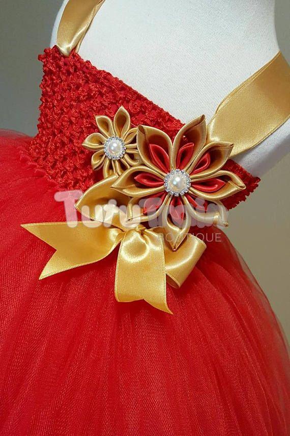 Christmas Tutu Dress Photo Prop  Holiday Tutu Dress Red and