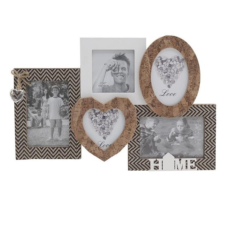 Multiple Wall Photo Frame - Frames Wood-Leather - FRAMES-ALBUMS - inart