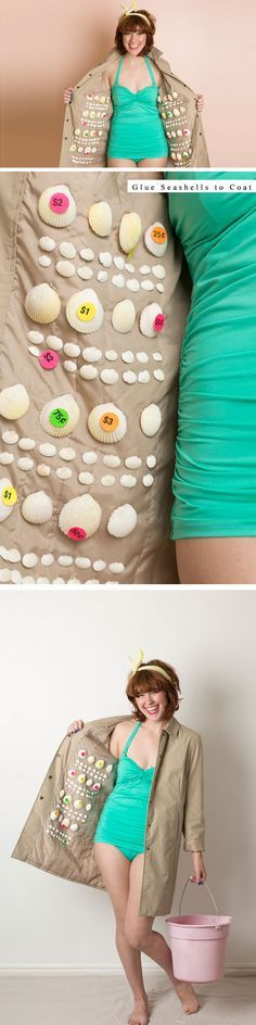 She Sells Seashells | Click Pic for 23 Quick and Easy Halloween Costumes for Women | DIY Fancy Dress Costumes for Women