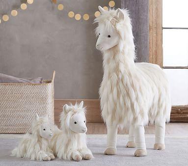 "Standing Jumbo Fur Plush - Llama 36"""