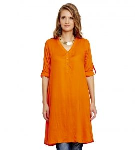 Jalebe trendy orange tunic for women INDTJBS005