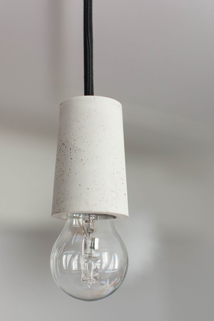 Perfect DIY Selbstgemachte Lampe aus Beton fashiontamtam