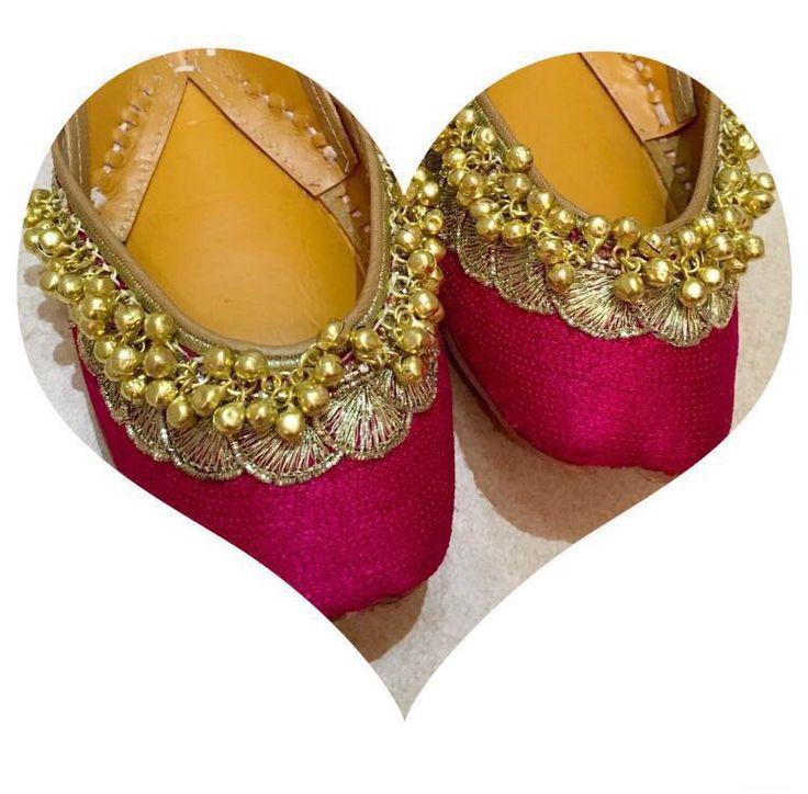 Pink Cinderella Punjabi Jutti   Punjabi • Jutti • Indian • Fashion • Bollywood • Wedding • Accessories • Pakistani • Mojeh • Khussas • Bridal • Jewellery •