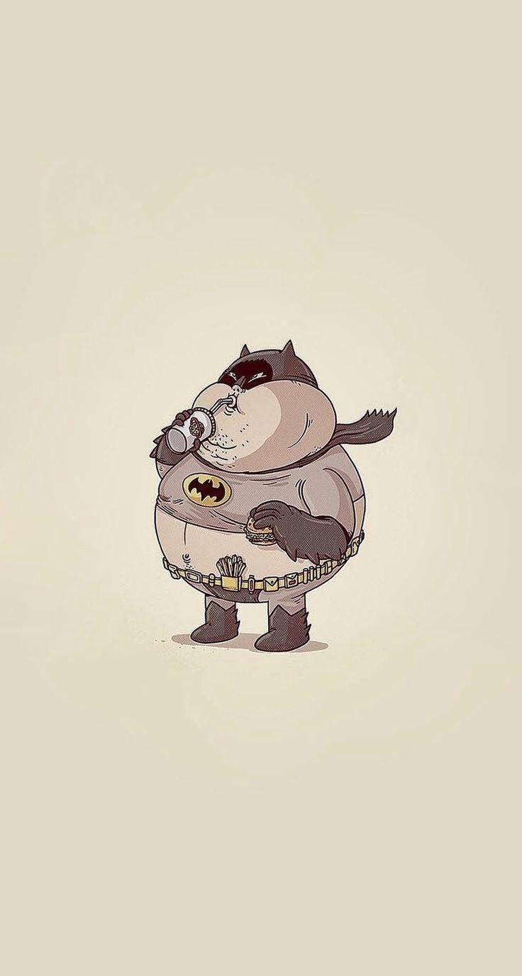 Fat Batman #superheroes iPhone wallpaper - @mobile9