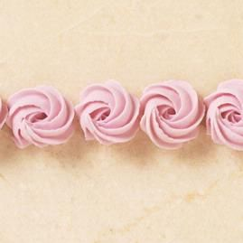 Rosette would look really pretty on a cake covered in these