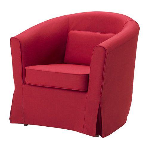IKEA - TULLSTA, Fauteuil, Nordvalla rouge, , Petit et facile à intégrer partout.Une gamme de housses coordonnées vous permet de donner facilement un nouveau look à votre meuble.La housse est facile à entretenir car elle est amovible et lavable en machine.