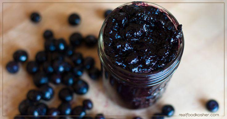 One Ingredient Blueberry Jam