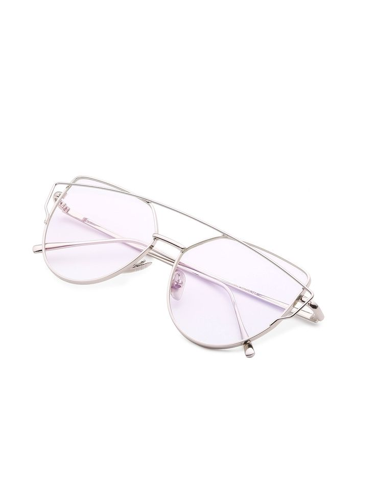 Shop Top Bar Flat Lens Glasses online. SheIn offers Top Bar Flat Lens Glasses & more to fit your fashionable needs.