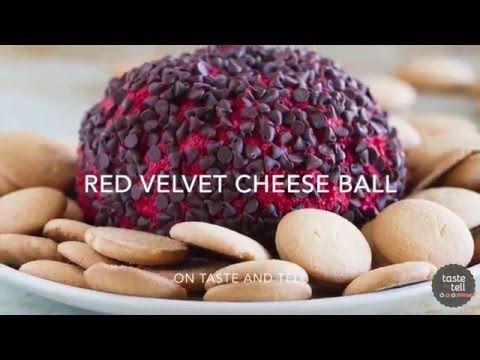 Red Velvet Cheese Ball {Video} - Taste and Tell