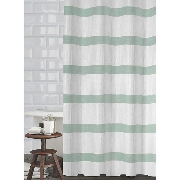 mulberry mint green shower curtain by