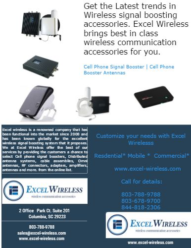 Get The Latest #Cell_Phone_Signal_Booster #Cell_Phone_Booster_Antennas #Amplifiers ! Stay Connected with Excel Wireless! Check out ALL the Latest products - Small & Large @ www.excel-wireless.com.