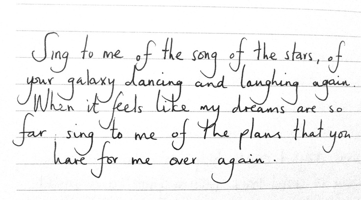 Only Hope - Switchfoot When it feels like my dreams are so far You sing to me of the plans that you have for me <3