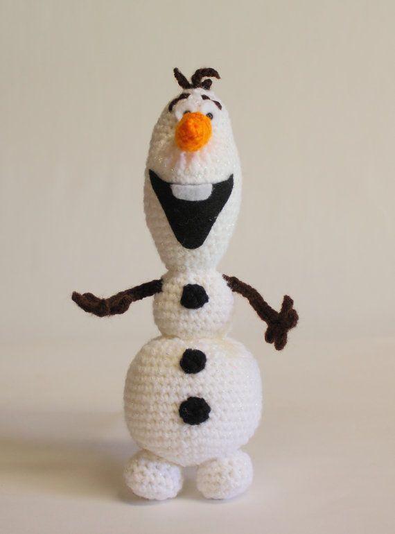 Olaf Crochet Amigurumi Snowman Olaf por LittleOsOWorkshop en Etsy