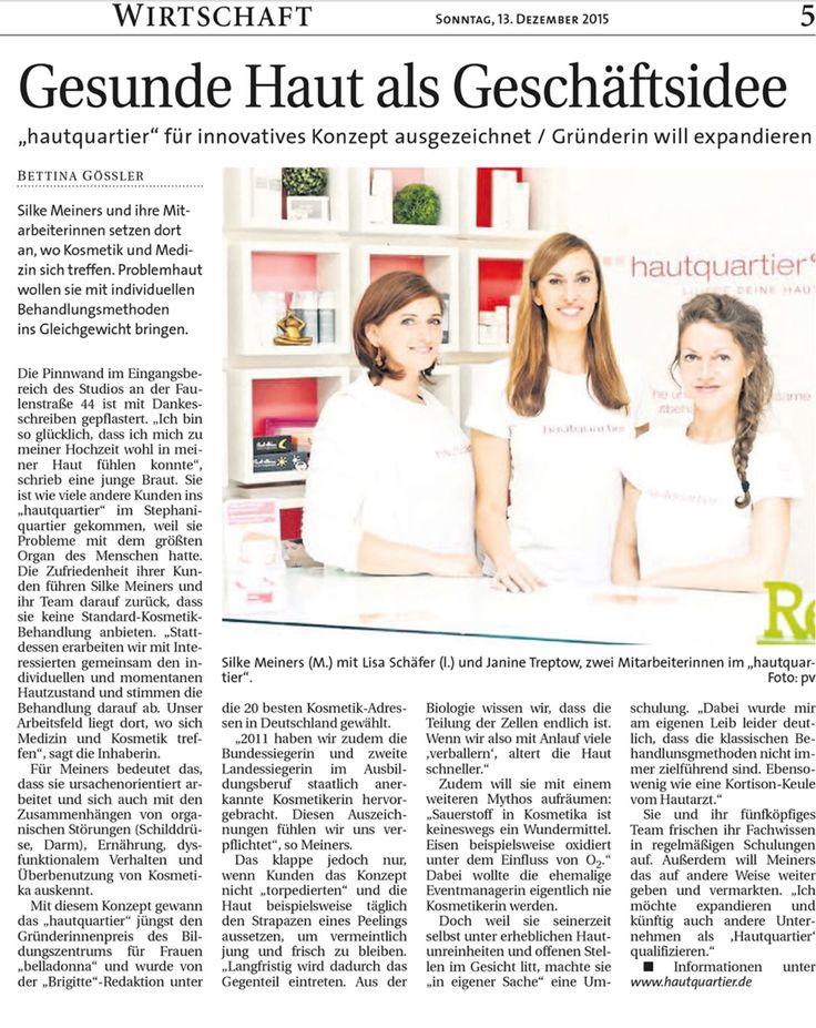 Artikel im Wirtschaftsteil vom Weser Report 13.12.15 #wirtschaft #weserreport #kosmetik