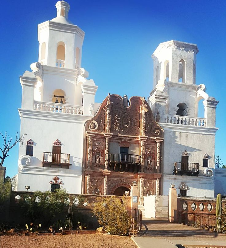"""I am not one to visit historic sites because when I get into a new city I think """"where can I find #goodfood #goodwine #goodmusic #goodfashion and #chillout  but this one is one of my #special stops."""" . . Mission San Xavier del Bac is a historic Spanish Catholic mission located about 10 miles (16 km) south of downtown Tucson Arizona on the Tohono O'odham San Xavier Indian Reservation. It was founded in 1692 by Padre Eusebio Kino[1] in the center of a centuries-old Indian settlement of the…"""