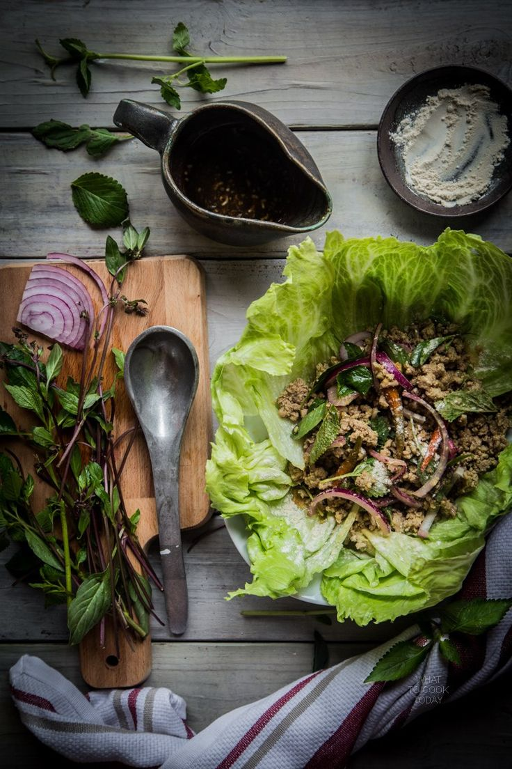 Thai larb moo (Spicy pork salad). If you love Thai food, you will love this